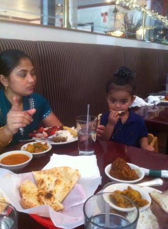 Indus Indian & Herbal Cuisine: my wife & my daughter