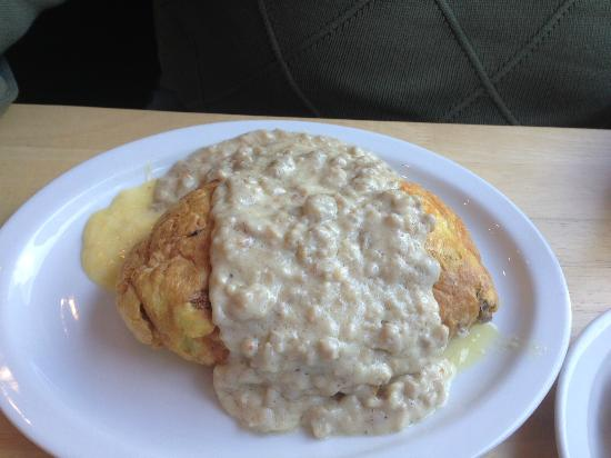 Original Pancake House : Cheese Omelette with Gravy