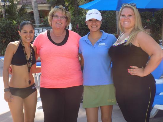 Barcelo Puerto Vallarta: Fernanda and Monika added so much fun by the pool!!
