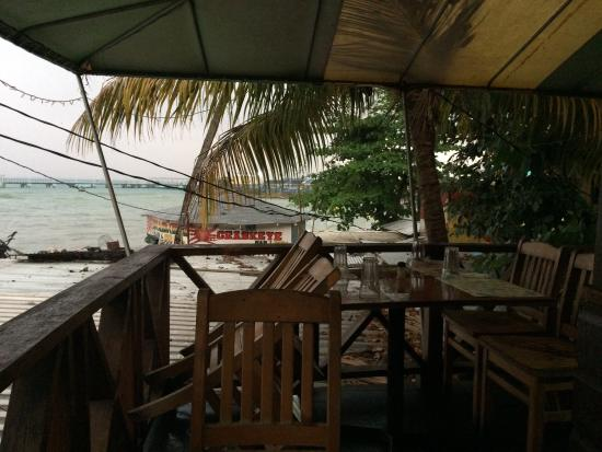 Whalers Seafood Restaurant & Sports Bar: Very rainy visit, would be lovely on a sunny day!