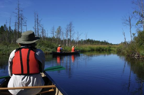 Kuhmo, ฟินแลนด์: Canoes on the  small river