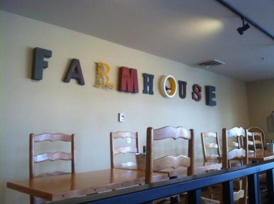 Farmhouse: From our table.
