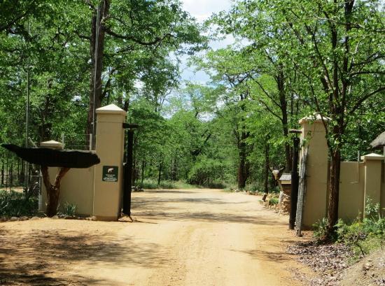 Sirheni Busheld Camp: Entrance.