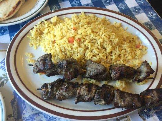 Lefteris Gyro : Skewed Lamb and Rices