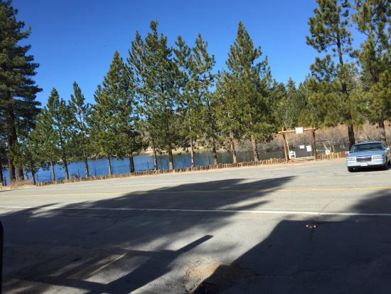 Green Valley Lake, CA: This will be your view from Lake inn Restaurant