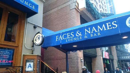 Front of Faces And Names