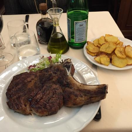 Girarrosto Fiorentino : Cut of the house: bone in sirloin - great quality