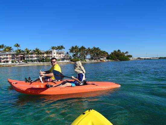 Chesapeake Beach Resort : the free kayaks were a nice perk, here with the resort behind us