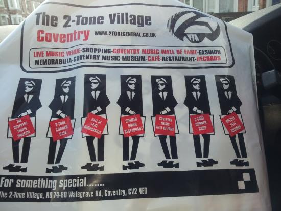 Coventry, UK: free carrier bag from the gift shop....