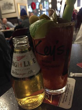 Keys Cafe - Nicollet Avenue: Spicy bloody with chaser