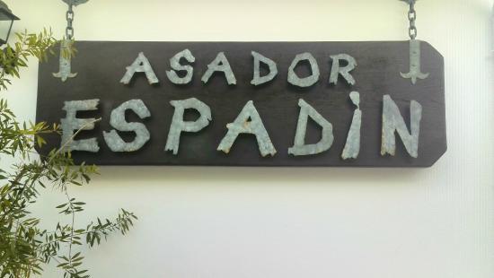 Velez Rubio, Spania: Rótulo del asador