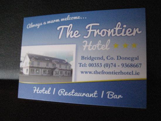 Frontier Hotel: Card