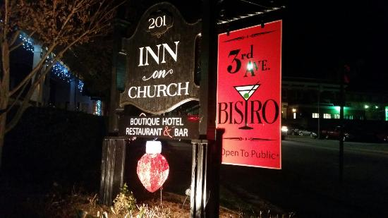 Inn on Church: All lit up