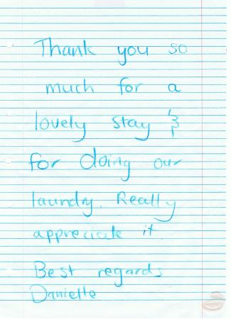 Midway Motel Waiheke Island : A Thank you note 22Feby
