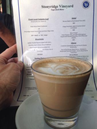 Stonyridge Vineyard : Wine and coffee - it is a good day!