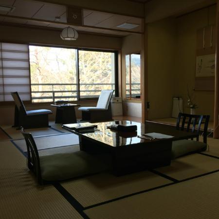 Nikko Hoshinoyado: View of the dining and sleeping area