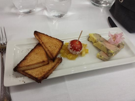 La Cour des Rois - Tours Sud : Foie gras de canard aux saveurs exotiques