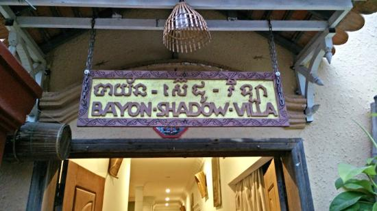 Bayon Shadow Villa : Lets be clear which hotel we are talking about