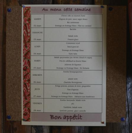 Hotel Restaurant l'Equipe: Snack à midi et repas copieux le soir (voir menu)