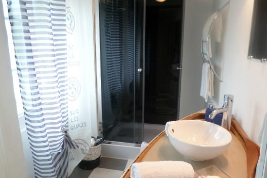 Corpe, France: Chambre Séréna : Salle d'eau avec douche Multijets