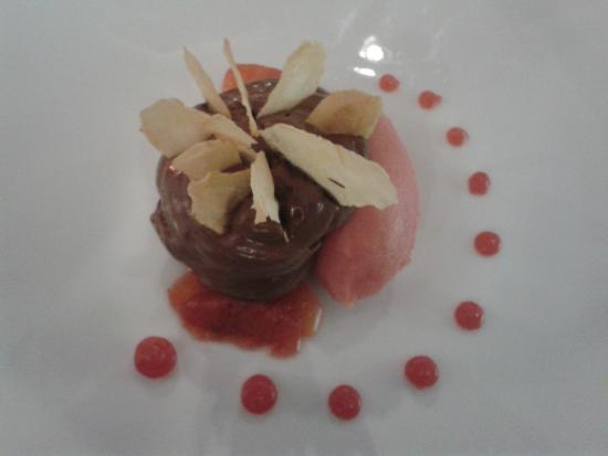 L'O De Source: Chocolat noir, panais croustillant, orange sanguine