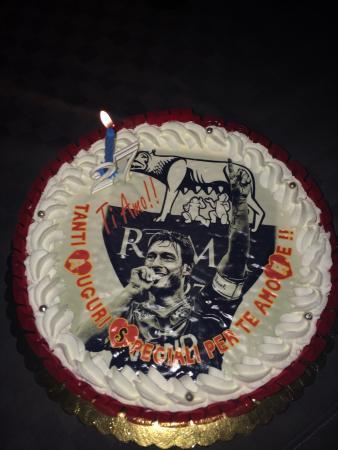 Torta compleanno As Roma! Meravigliosa   Picture of Gelateria Fini
