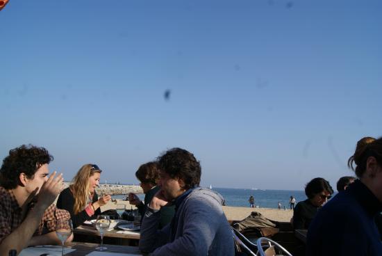Sal Cafe : Vistas desde nuestra mesa (único punto positivo del lugar)