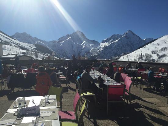 Club Med Les-Deux Alpes: Terrasse