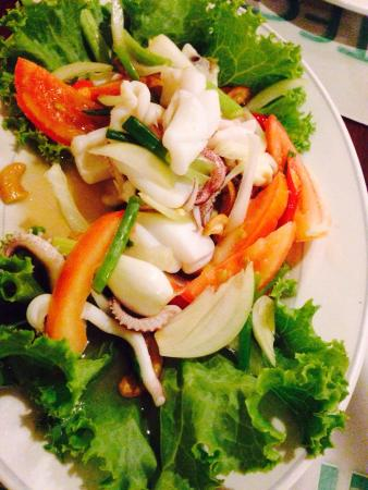 Eightfold Restaurant: Thai-Style Squid Salad