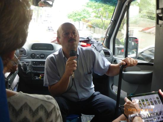 Jewish Tours: Salito Gutt on the bus