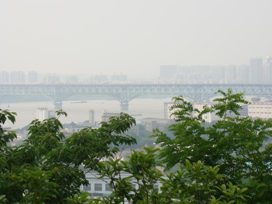 Yuejiang Tower : Blick auf die Yangtse-Brücke