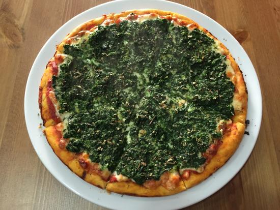 Pizza Portena: Pizza de espinacas