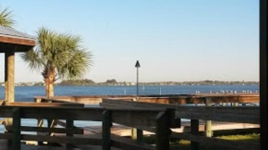 River Rocks: view of the Indian River Lagoon