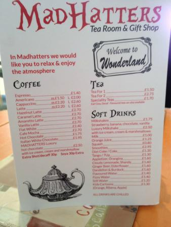 Mad Hatters Cafe Menu