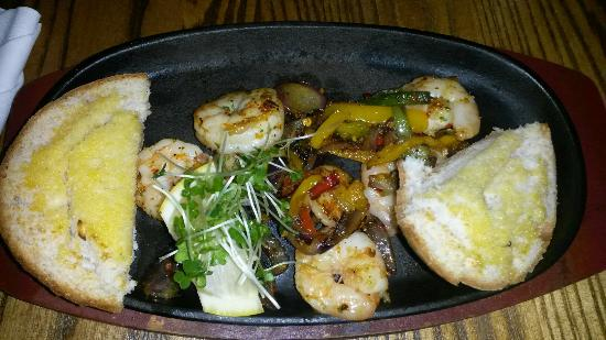 The Market Bar: Piri piri prawns from gluten free menu