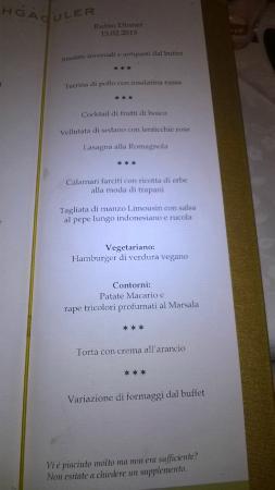 Hotel Schgaguler: menu al ristorante