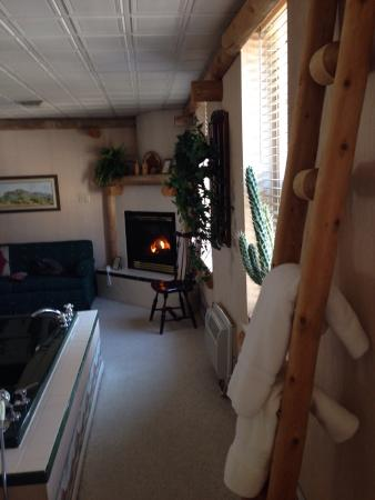 East Greenville, PA: Mexican ladder jacuzzi & fireplace.