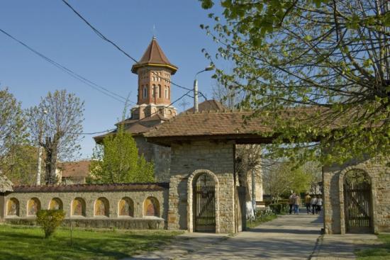 Bacau, Roumanie : Precista Monastery entrance