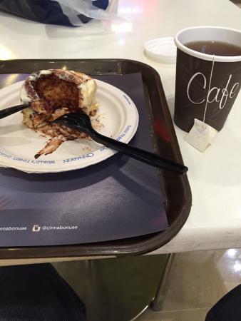 cinnabon and seattle's best coffee: Cinnamon Dubai mall