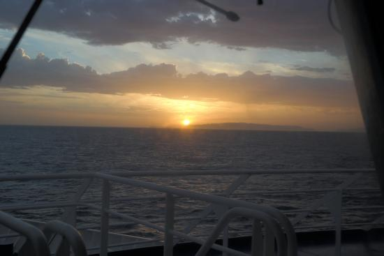 sunrise taken from porto santo line foto de porto santo line day cruise funchal tripadvisor. Black Bedroom Furniture Sets. Home Design Ideas