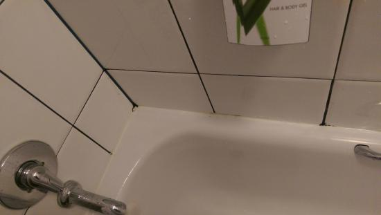 Premier Inn London Southwark (Bankside) Hotel: Mould around bath
