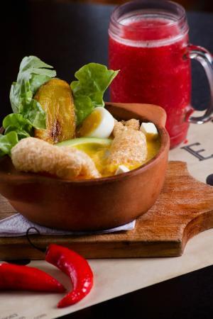 Café de la Vaca: Locro...un plato típico de esta tierra