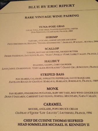 The Ritz Carlton Grand Cayman Menu From Blue