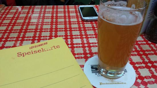 Lotschberg: ...e cozinha fechada às 14h, aviso apenas depois de pedir cerveja.
