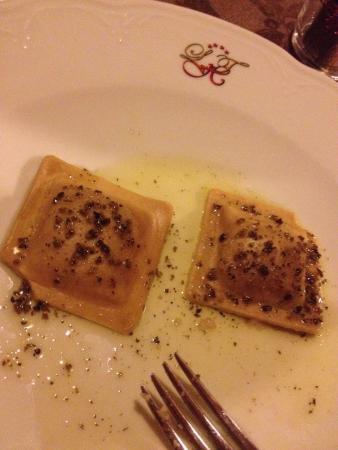 Ravioli con impasto alle castagne