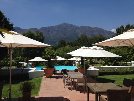 Franschhoek Manor : Terrace/Pool