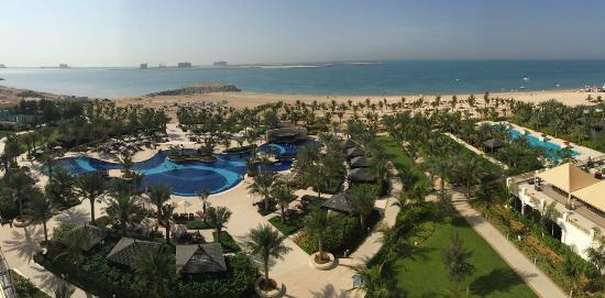Waldorf Astoria Ras Al Khaimah: View from balcony (King room, sea view)