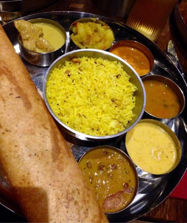 Traditional Thali dishes