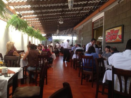 Open air dining room at Donde Joselito in Guatemala City