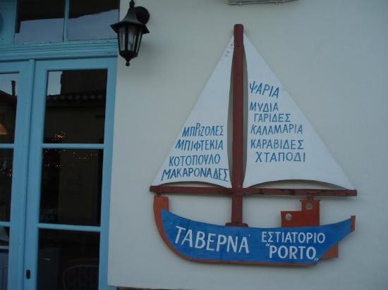 Taverna Porto: Hand made sign